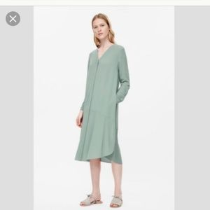 Cos mint green button dress